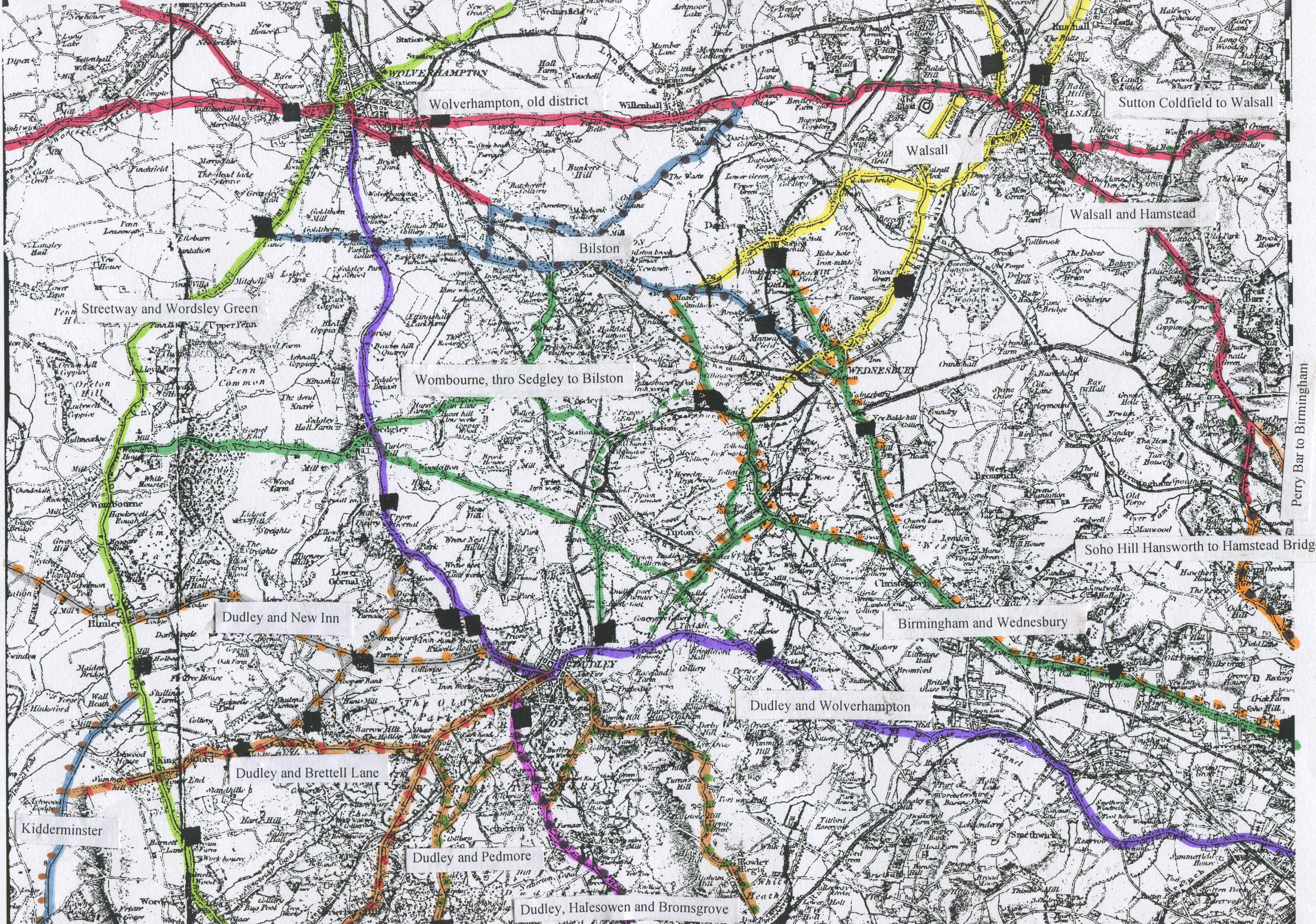 Turnpike roads in England and tollhouses – Map Uk Roads